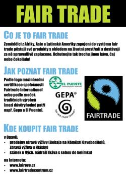 Fair trade letáček